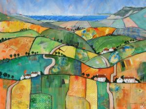 Patchwork Hills to Golden Cap by Hilary   Buckley