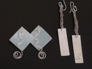 Two pairs of earrings by Yvonne  Doney