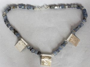 Sapphire and silver necklace by Yvonne  Doney