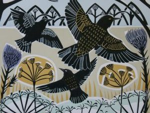 Winter Starlings by Cathy   King