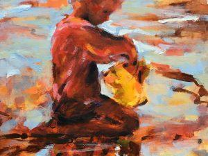 Yellow Bucket by Catherine Osbond