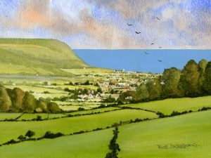 Seaton from Harepath Hill by Bob Bradshaw